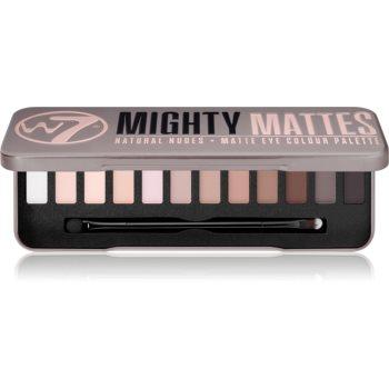 W7 Cosmetics Mighty Mattes paletă cu farduri de ochi cu efect matifiant