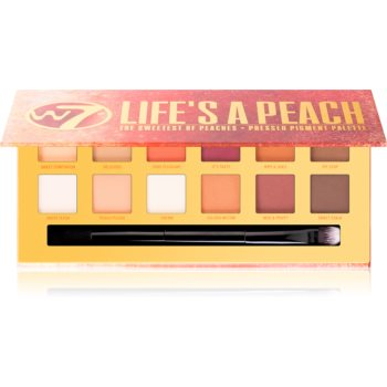 W7 Cosmetics Lifes a Peach paletă cu farduri de ochi cu efect matifiant
