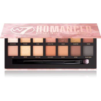 W7 Cosmetics Romanced paleta farduri de ochi poza noua