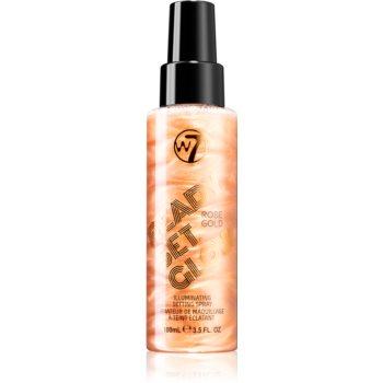 W7 Cosmetics Ready/Set/Glow spray pentru fixare și strălucire poza noua