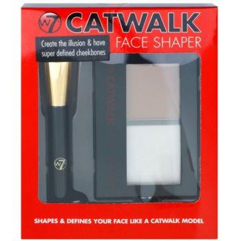 W7 Cosmetics Catwalk palete de cores para contorno de rosto com espelho e aplicador 1