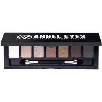 W7 Cosmetics Angel Eyes Out on the Town paleta farduri de ochi cu oglinda si aplicator