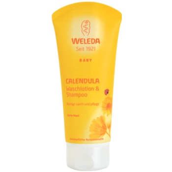 Weleda Baby and Child Gel de dus si sampon pentru copii galbenele  200 ml