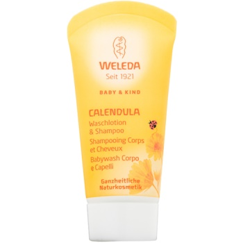 Weleda Baby and Child Gel de dus si sampon pentru copii galbenele  20 ml