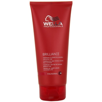 Wella Professionals Brilliance balsam pentru par fin si colorat  200 ml