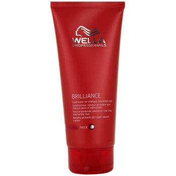 Fotografie Wella Professionals Brilliance kondicionér pro hrubé, barvené vlasy 200 ml