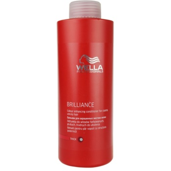 Fotografie Wella Professionals Brilliance kondicionér pro hrubé, barvené vlasy 1000 ml