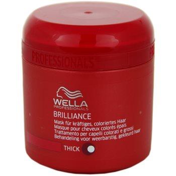 Wella Professionals Brilliance masca pentru par aspru si vopsit  150 ml