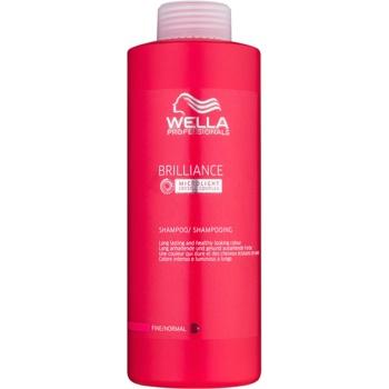 Wella Professionals Brilliance sampon pentru par fin si colorat  1000 ml