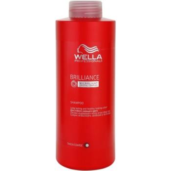 Wella Professionals Brilliance sampon pentru par aspru si vopsit  1000 ml