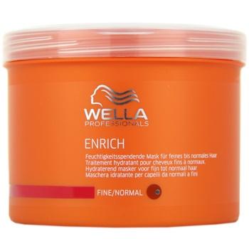 Wella Professionals Enrich masca pentru par fin  500 ml