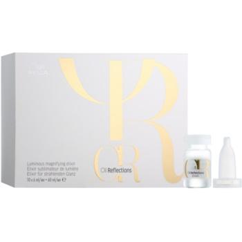 Wella Professionals Oil Reflections elixir pentru un plus de strălucire și păr mătăsos  pentru uz profesonial  10 x 6 ml