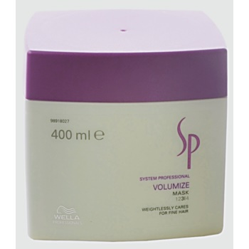 Fotografie Wella Professionals SP Volumize maska pro jemné a zplihlé vlasy 400 ml