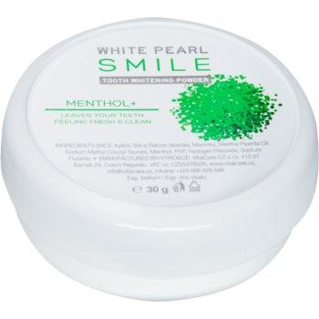 White Pearl Smile pudra pentru albirea dintilor Mentol+ 30 g