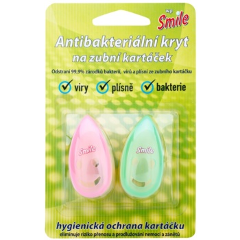 White Pearl Smile capac  periuta de dinti Pink & Green 2 buc