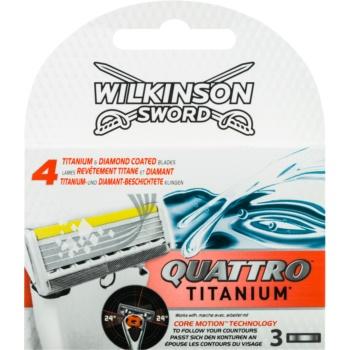 Wilkinson Sword Quattro Titanium rezerva Lama 3 pc