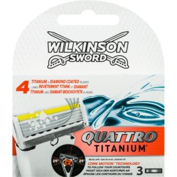 Wilkinson Sword Quattro Titanium rezerva Lama 3 pc imagine produs