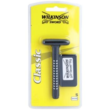 Wilkinson Sword Classic aparat de ras + lame de rezervã 5 bucati imagine produs