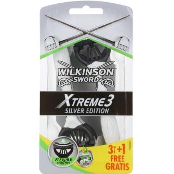 Wilkinson Sword Xtreme 3 Silver Edition aparat de ras de unică folosință  4 buc