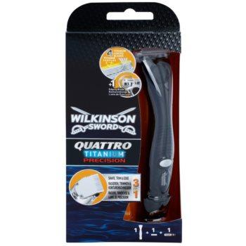 Wilkinson Sword Quattro Titanium Precision Körperhaartrimmer und Rasierer für die Nassrasur