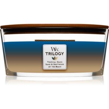 Woodwick Trilogy Nautical Escape lumânare parfumată cu fitil din lemn (hearthwick)