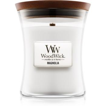 Woodwick Magnolia lumânare parfumată cu fitil din lemn