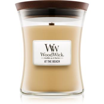 Woodwick At The Beach lumânare parfumată cu fitil din lemn