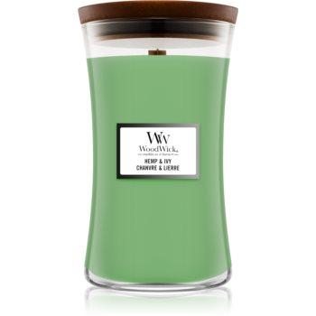 Woodwick Hemp & Ivy duftkerze mit Holzdocht 609,5 g