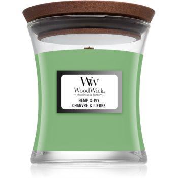 Woodwick Hemp & Ivy duftkerze mit Holzdocht 85 g