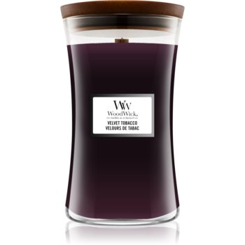 Woodwick Velvet Tobacco lumânare parfumată cu fitil din lemn imagine