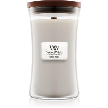 Woodwick Warm Wool lumânare parfumată cu fitil din lemn
