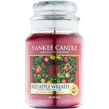 Yankee Candle Red Apple Wreath lumânare parfumată Clasic mare
