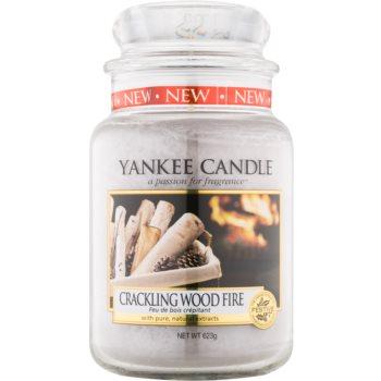 Yankee Candle Crackling Wood Fire lumanari parfumate 623 g Clasic mare