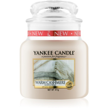 Yankee Candle Warm Cashmere vonná svíčka Classic střední 411 g