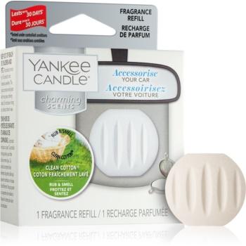 Yankee Candle Clean Cotton parfum pentru masina rezervă agățat