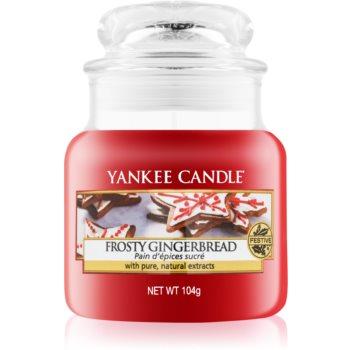 Yankee Candle Frosty Gingerbread lumanari parfumate 104 g Clasic mini