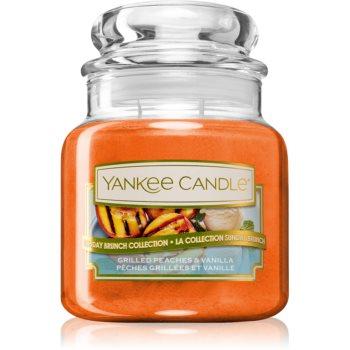 Yankee Candle Grilled Peaches & Vanilla lumânare parfumată Clasic mini