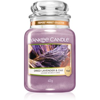 Yankee Candle Dried Lavender & Oak lumânare parfumată Clasic mare