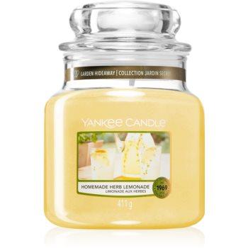 Yankee Candle Homemade Herb Lemonade lumânare parfumată Clasic mediu