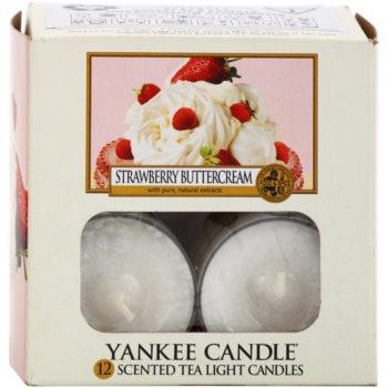 Yankee Candle Strawberry Buttercream čajna sveča 1