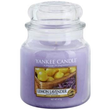 Yankee Candle Lemon Lavender vonná svíčka Classic střední 411 g
