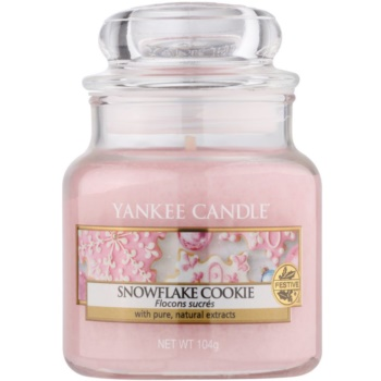Yankee Candle Snowflake Cookie vonná svíčka Classic malá 104 g