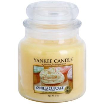 Yankee Candle Vanilla Cupcake vonná svíčka Classic střední 411 g