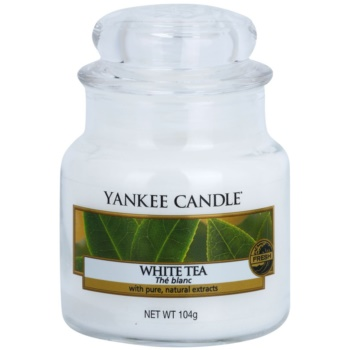 Yankee Candle White Tea lumanari parfumate 104 g Clasic mini