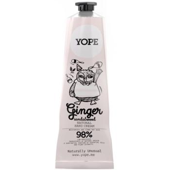 Yope Ginger & Sandalwood cremă naturală de mâini nutritie si hidratare