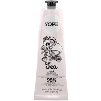 Yope Tea & Mint cremă naturală de mâini nutritie si hidratare  100 ml