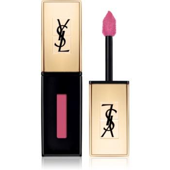Yves Saint Laurent Vernis À Lèvres ruj rezistent si luciu de buze. 2 in 1 culoare 15 Rose Vinyl  6 ml