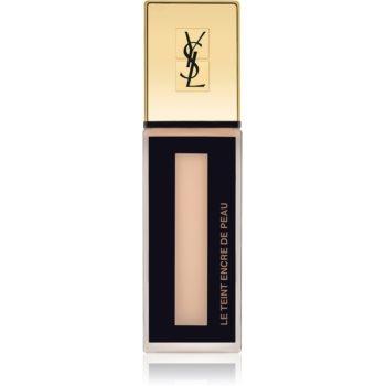 Yves Saint Laurent Le Teint Encre de Peau machiaj matifiant SPF 18 culoare BR20 Beige Rosé 25 ml