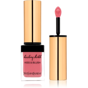 Yves Saint Laurent Baby Doll Kiss & Blush ruj de buze si obraji cu efect matifiant culoare 8 Pink Hédoniste  10 ml