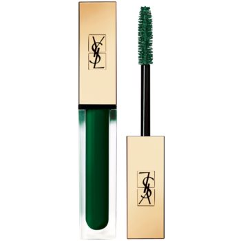 Yves Saint Laurent Vinyl Couture Mascara mascara pentru extensie, rotunjire si volum culoare 3 I'm The Excitement – Green 6,7 ml